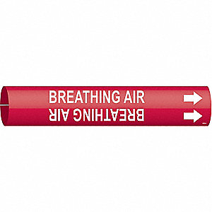 Pipe Markr,Breathing Air,R,3/4to1-3/8 In