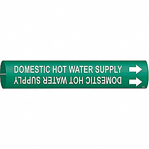Pipe Marker,Domestic Hot Water Supply,Gn