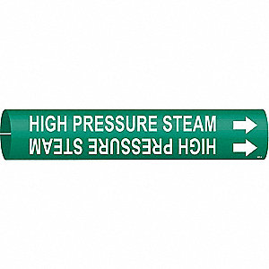 Pipe Marker,High Pressure Steam,Green