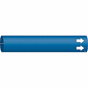 Pipe Marker,(Blank),Bl,2-1/2 to3-7/8 In
