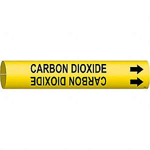 Pipe Mrkr,Carbon Dioxide,2-1/2to3-7/8 In