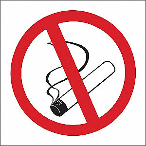 No Smoking Sign,7 x 10In,R and BK/WHT