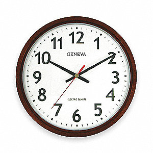Wall Clock,Analog,Electric