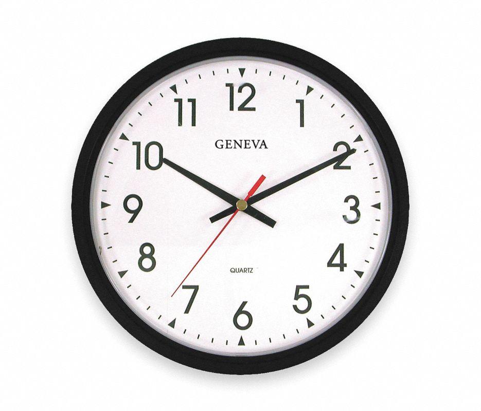Analog Clock,14 In,Black