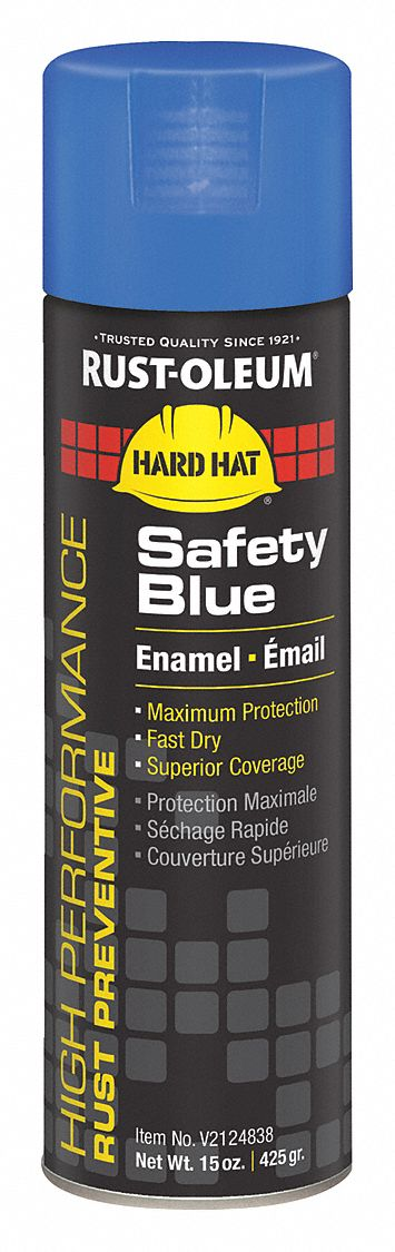 High Performance Rust Preventative Spray Paint in Gloss Safety Blue for Metal, Steel, 15 oz