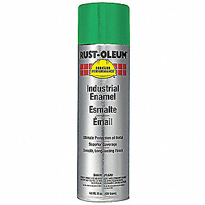 High Performance Rust Preventative Spray Paint in Gloss Safety Green for Metal, Steel, 15 oz.