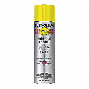 Safety Yellow Rust Preventative Spray Paint, Gloss Finish, 15 oz.
