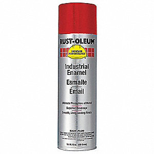 High Performance Rust Preventative Spray Paint in Gloss Safety Red for Metal, Steel, 15 oz.