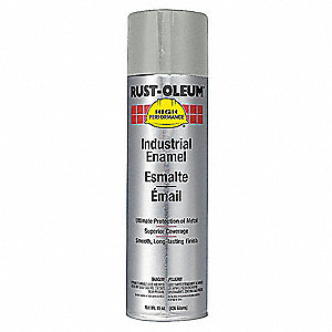 High Performance Rust Preventative Spray Paint in Gloss Light Machine Gray for Metal, Steel, 15 oz.