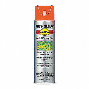 Solvent-Base Inverted Marking Paint, Fluorescent Red-Orange, 15 oz.