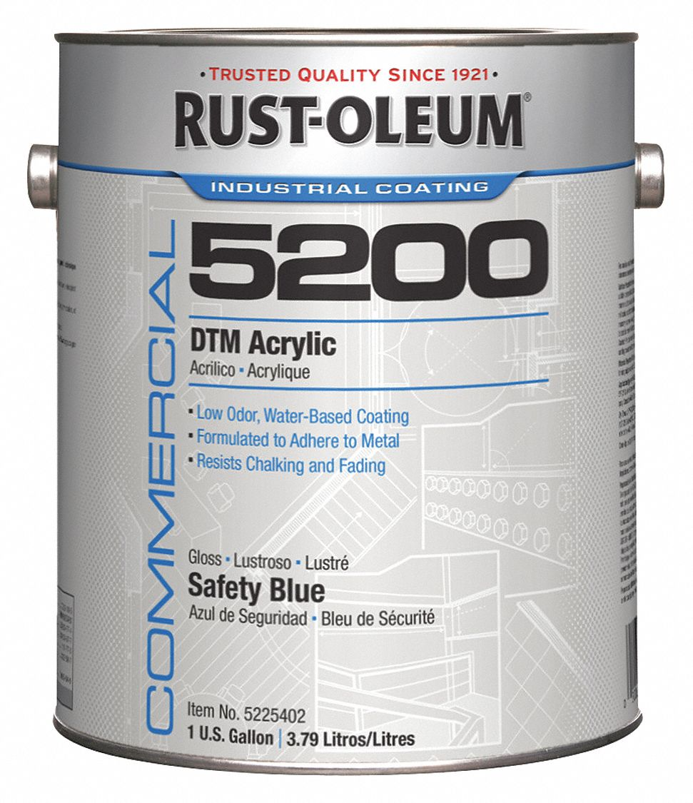High Gloss Interior/Exterior Paint, Water Base, Safety Blue, 1 gal