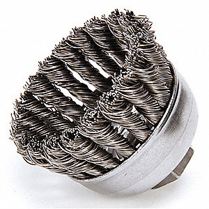 Crimped Wire Cup Brush,2-3/4 In.