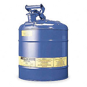 Type I Safety Can,5 gal.,Blue,16-7/8In H