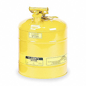 Type I Safety Can,5 gal,Ylw,16-7/8In H