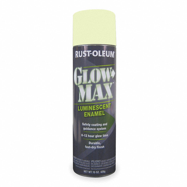 Rust oleum so sure photoluminescent glow in the dark spray paint in flat luminescent green for for Rustoleum exterior concrete paint