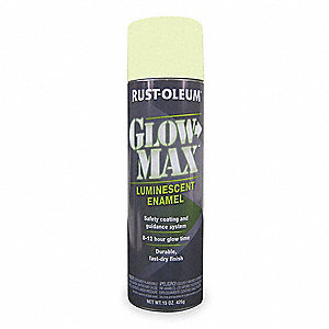 Luminescent Green Photoluminescent Glow In The Dark Spray Paint, Flat Finish, 15 oz.