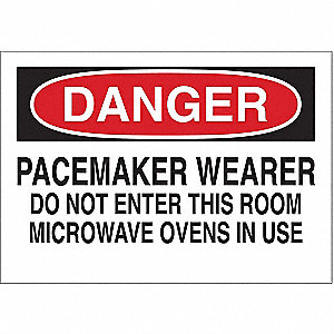 Danger Radiation Sign,7 x 10In,ENG,Text