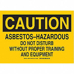 "Health Hazard, Caution, Aluminum, 7"" x 10"", With Mounting Holes, Not Retroreflective"