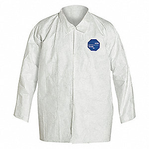 Disposable Collared Shirt,White,XL,PK12