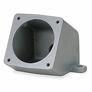 Angle Back Box, Metallic, 60 Amps, Box Type: Feed Though, 15° Angle