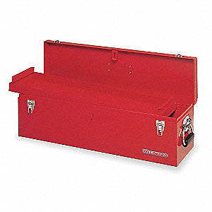 red metal tool box. metal tool box,30 in red box