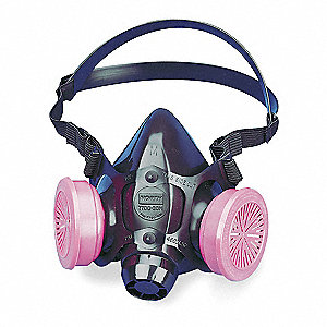 HONEYWELL NORTH Half Mask Respirator, Respirator Connection Type: Threaded, Mask Size: M