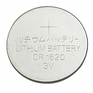 Lithium Coin Cell, Voltage 3, Battery Size 1620, 1 EA