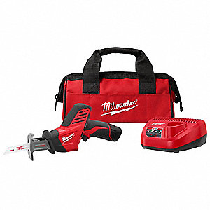 Cordless Reciprocating Saw Kit, 12.0 Voltage, Keyless Shoe Design, Battery Included