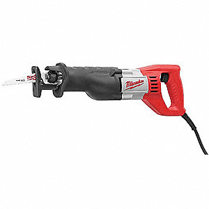 Corded Reciprocating Saw, 12.0 Amps, 0 to 3000 Strokes per Minute, 8 ft. Cord, Straight Cutting