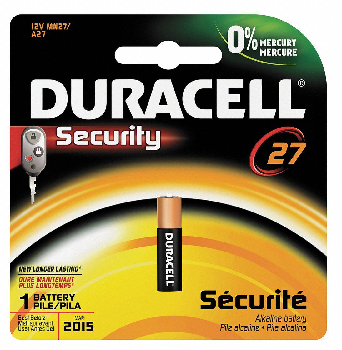 Duracell Battery Mn27 Alkaline 12v 5hxn4 Mn27bpk Grainger