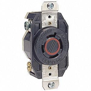 LOCKING RECEPTACLE,L16-20R,3P,4W,3P