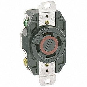 5HYR8_AS01?$mdmain$ leviton locking receptacle,industrial,30,black 5hyr8 2730 grainger