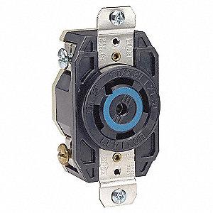 LOCKING RECEPTACLE,L21-30R,4P,5W,3P