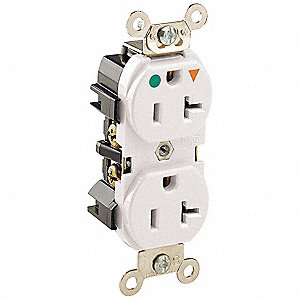 ISO.GRND RECEPTACLE,HOSPGR,5-20R,WH