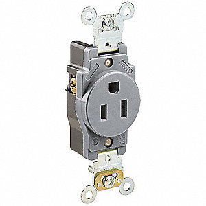 RECEPTACLE,SINGLE,5-15R,125V,IND.,G