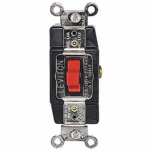 Wall Switch, Switch Type: 1-Pole, 3 Position, Center Off, Switch Function: Momentary, Style: Toggle
