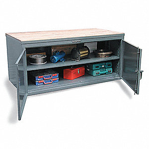 Cabinet Workbench,Maple Top,W 84,H37,D36