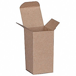 "Mailing Carton, Kraft Brown, Inside Width 2"", Inside Length 4"", Inside Depth 2"", 500 PK"