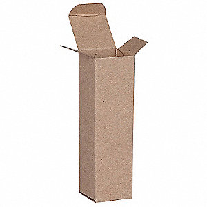"Mailing Carton, Kraft Brown, Inside Width 2"", Inside Length 7"", Inside Depth 2"", 500 PK"