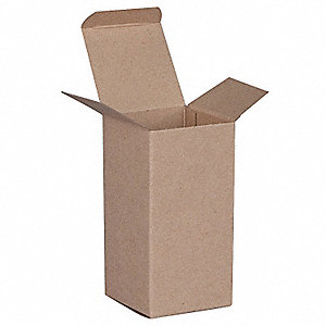 "Mailing Carton, Kraft Brown, Inside Width 3"", Inside Length 6"", Inside Depth 3"", 250 PK"