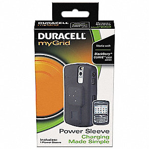 Power Sleeve for Blackberry Curve&#x3b; Charges Up To (1) Device