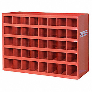 "33-3/4"" x 12"" x 23-7/8"" Pigeonhole Bin Unit, Red"