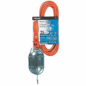 Hand Lamp,25 ft.,75W,110/125VAC