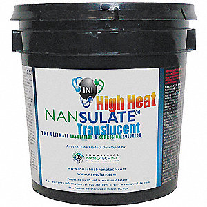 Clear Thermal Insulation Coating, Matte Finish, 150 sq. ft./gal. Coverage, Size: 1 gal.
