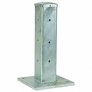 "18-1/2""H Bolt On Corner Post, Silver"