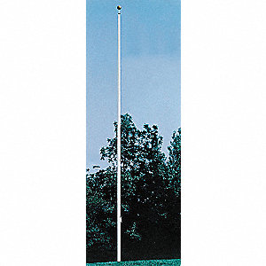 Flag Pole,Ground Mount,20 ft.,Aluminum