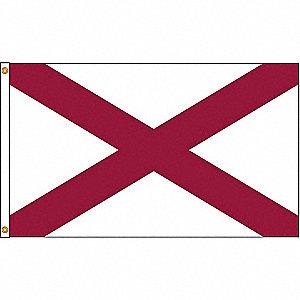 ALABAMA FLAG,4X6 FT,NYLON