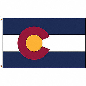 Colorado State Flag, 4 ft.H x 6 ft.W, Indoor, Outdoor
