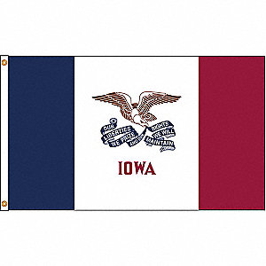 Iowa State Flag, 4 ft.H x 6 ft.W, Indoor, Outdoor