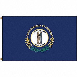 KENTUCKY FLAG,5X8 FT,NYLON